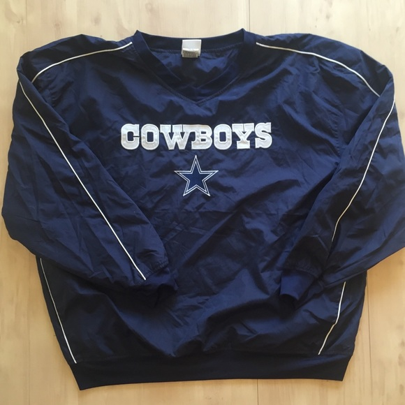 size 40 83283 4b6fc Dallas Cowboys Men Pullover jacket windbreaker XXL
